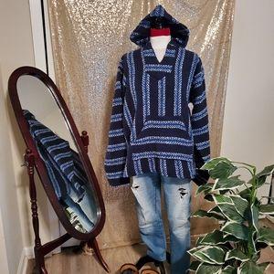 Baja Joe Mexican hoodie navy size L